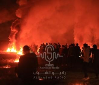 فعاليات الإرباك الليلي شرق قطاع غزة تضامنا مع أهالي القدس